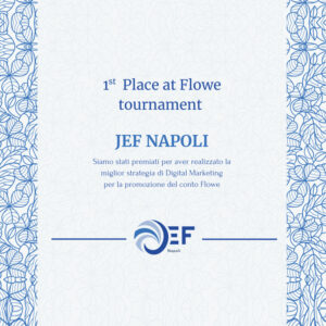 1st Place at Flowe Tournament